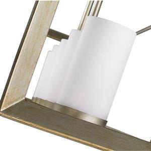 Golden Lighting Smyth WG White Gold Linear Modern/Contemporary Cylinder Pendant