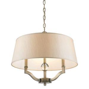 Golden Lighting Waverly AB Aged Brass Multi-Light Transitional Drum Pendant
