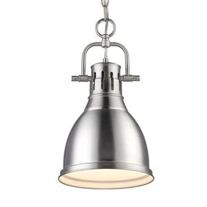 Golden Lighting Duncan PW Pewter Transitional Dome Pendant