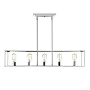 Golden Lighting Wesson 41.0-in W 5-Light Chrome Transitional Kitchen Island Light