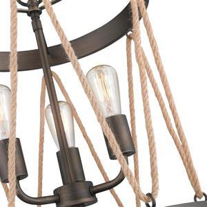Golden Lighting Gunmetal Bronze Multi-Light Transitional Cylinder Pendant