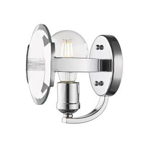 Golden Lighting Amari CH 6.125-in W 1-Light Chrome Modern/contemporary Ambient Hardwired Wall Sconce