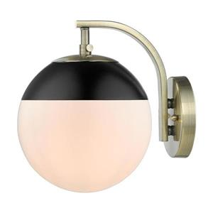 Golden Lighting Dixon AB 7.75-in W 1-Light Aged Brass Transitional Ambient Hardwired Wall Sconce