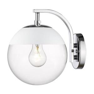 Golden Lighting Dixon CH 7.75-in W 1-Light Chrome Transitional Ambient Hardwired Wall Sconce