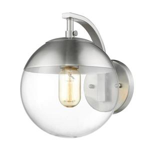 Golden Lighting Dixon PW 7.75-in W 1-Light Pewter Transitional Ambient Hardwired Wall Sconce