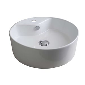 "American Imaginations Above-Counter Vessel Set - 18.25"" - Ceramic - White"