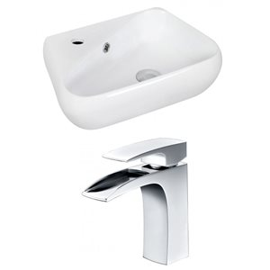 17.5-in W x 11-in D Unique Vessel Set With Single Hole CUPC Faucet (Wall Mount)
