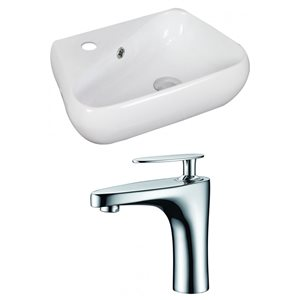 17.5-in W x 11-in D Unique Vessel Set With Single Hole CUPC Faucet (Above Counter)