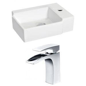 "American Imaginations Wall Mount Vessel Set - 16.25"" - Ceramic - White"