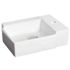 "American Imaginations Above-Counter Vessel Set - 16.25"" - Ceramic - White"