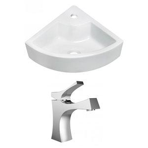 "American Imaginations Wall Mount Vessel Set - 26.25"" - Ceramic - White"