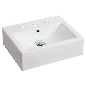 "American Imaginations Above-Counter Vessel Set - 20.25"" - Ceramic - White"