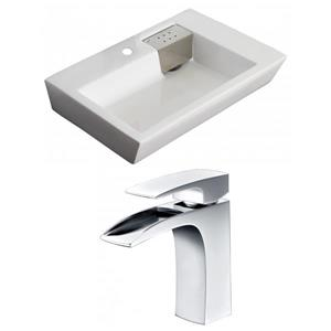 "American Imaginations Above-Counter Vessel Set - 26"" - Ceramic - White"