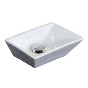 "American Imaginations Above-Counter Vessel Set - 12"" - Ceramic - White"