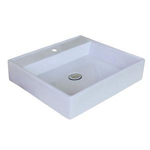 "American Imaginations Above-Counter Vessel Set - 17"" - Ceramic - White"