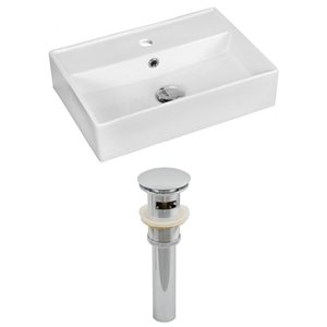 19.75-in W x 13.75-in D Rectangle Vessel Set And Drain (Above Counter)