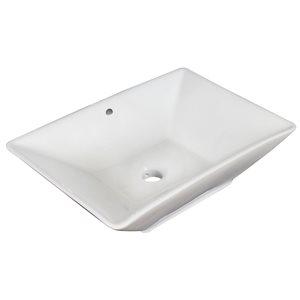 """American Imaginations Above-Counter Vessel - 22"""" - Ceramic - White"""