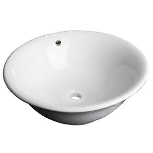 """American Imaginations Above-Counter Vessel - 17"""" - Ceramic - White"""