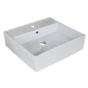 """American Imaginations Above-Counter Vessel - 18"""" - Ceramic - White"""