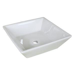 """American Imaginations Above-Counter Vessel - 15.75"""" - Ceramic - White"""