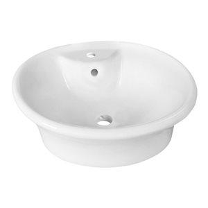 """American Imaginations Above-Counter Vessel - 19"""" - Ceramic - White"""