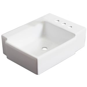 "American Imaginations Wall Mount Vessel - 16.25"" - Ceramic - White"