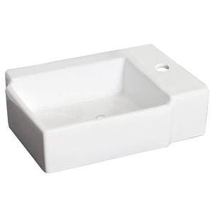16.25-in W x 11.75-in B2F Wall Mount Rectangle Vessel
