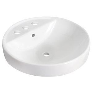 "American Imaginations Drop-in Vessel - 18.25"" - Ceramic - White"