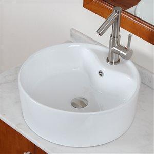"""American Imaginations Above-Counter Vessel - 18.25"""" - Ceramic - White"""