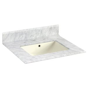 American Imaginations Juliet 19.5-in White Marble Top Widespread