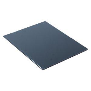 """American Imaginations Zen Glass Top - 14"""" x 18.25"""" - Black"""