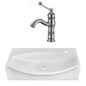 16.5-in W Unique Vessel Set With 1 Hole Right Faucet