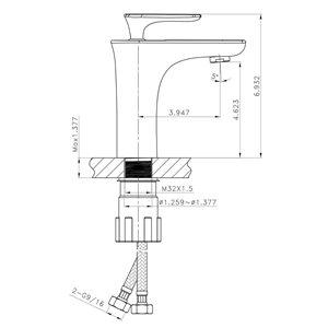 "American Imaginations Above-Counter Vessel Set - 16.5"" - Ceramic - White"