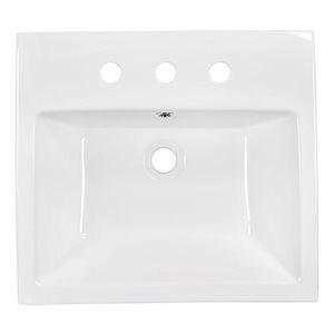 "American Imaginations Above-Counter Vessel Set - 20.5"" - Ceramic - White"