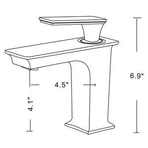 "American Imaginations Above-Counter Vessel Set - 26.25"" - Ceramic - White"