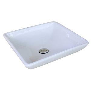 "American Imaginations Above-Counter Vessel Set - 15.75"" - Ceramic - White"