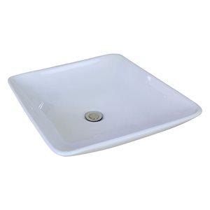 "American Imaginations Above-Counter Vessel Set - 16.75"" - Ceramic - White"