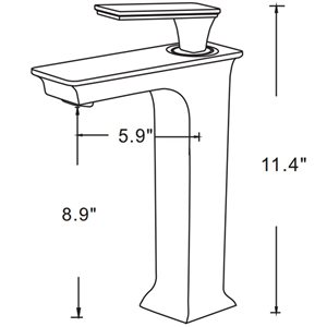 "American Imaginations Above-Counter Vessel Set - 14.75"" - Ceramic - White"