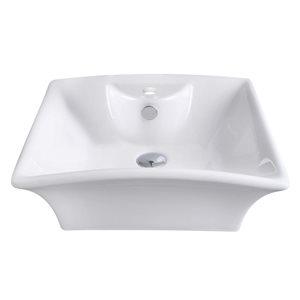 "American Imaginations Above-Counter Vessel Set - 19.5"" - Ceramic - White"