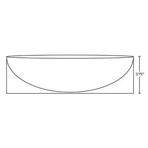 """American Imaginations Above-Counter Vessel - 13.75"""" - Ceramic - White"""