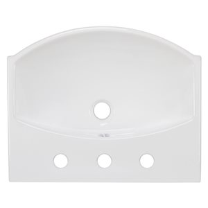 "American Imaginations Wall Mount Vessel - 19.5"" - Ceramic - White"
