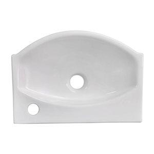 """American Imaginations Above-Counter Vessel - 16.5"""" - Ceramic - White"""
