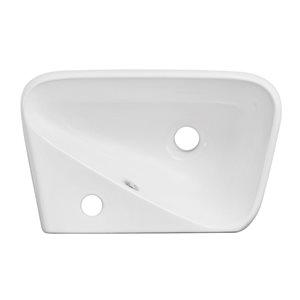 """American Imaginations Above-Counter Vessel - 17.5"""" - Ceramic - White"""