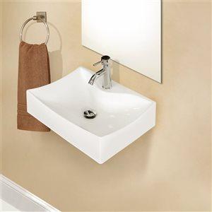 "American Imaginations Wall Mount Vessel - 21.5"" - Ceramic - White"