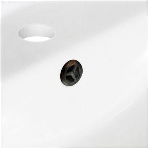 "American Imaginations Undermount Sink Set - 20.75"" - Ceramic - White"