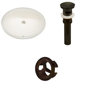 "American Imaginations Undermount Sink Set - 19.5"" - Ceramic - Biscuit"