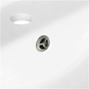 "American Imaginations Sink Set - 19.75"" - Ceramic - Biscuit"