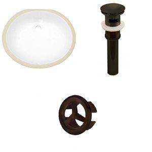 "American Imaginations Sink Set - 19.5"" - Ceramic - White"