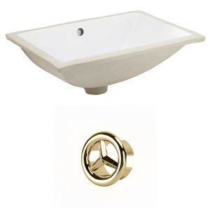 "American Imaginations Undermount Sink Set - 20.75"" - Ceramic - White"