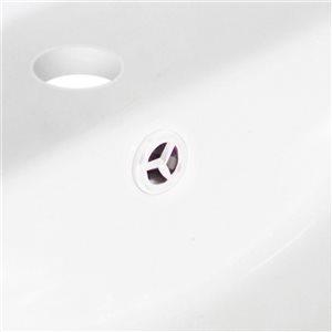 "American Imaginations Undermount Sink Set - 16"" - Ceramic - Biscuit"